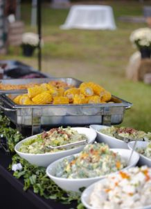Wedding buffet on display
